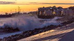 DSC_0239 (sergeysemendyaev) Tags: sunset sea storm beach spring warm waves russia dusk adler atthebeach seashore blacksea seacoast bigwaves sochi  2016                 duringf1 1 duringformulaone