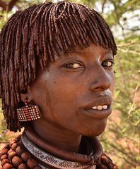 Hamar Woman, Ethiopia (Rod Waddington) Tags: africa portrait people woman face female beads costume african traditional valle tribal valley afrika omovalley ethiopia tribe ethnic hairstyle hamar hamer ethnicity afrique earing ethiopian omo thiopien etiopia ethiopie etiopian