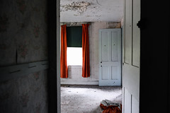 The Upstairs Bedroom (Geoffrey Coelho Photography) Tags: old wallpaper house abandoned home architecture farmhouse contrast bedroom farm interior massachusetts newengland architectural haunted spooky nostalgia faded berkshires nostalgic haunting homestead berkshirecounty sandisfield spectaclepondfarm