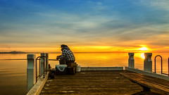 Fishing over the weekend (shivan) Tags: sunrise geelong geelongwaterfront calmmorning d7000 tokina1116mm fishinginthemorning peacefulmorningonpier amanfishinginsunrise