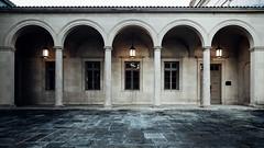 Courtyard (seikoesquepayne) Tags: church olympus baltimore f28 em1 charlesvillage 714mm