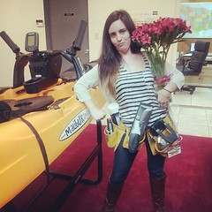 We think she's trying to hard... (malibukayaksinc) Tags: flowers girls hilarious lol follow help windex kayaks toolbelt werescared iphones malibukayaks like4like uploaded:by=flickstagram instagram:photo=558944274337485073349832035