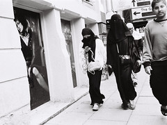 (TBeever) Tags: street film fashion modern analog manchester model women muslim religion modernism olympus womens rights tradition independence society gender burqa conformity shootfromthehip confronted