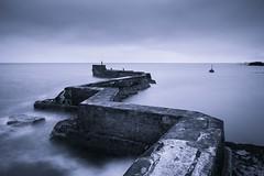 St Monans Breakwater (John Barratt) Tags: longexposure blue seascape fife breakwater firthofforth stmonans splittoned
