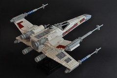 T-65 X wing (4) (Inthert) Tags: star starwars fighter ship lego luke r2d2 xwing wars skywalker moc t65 sfoils