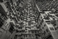 Concrete Jungle (Camera_Shy.) Tags: old people urban blackandwhite building tower monochrome architecture landscape bay high nikon apartments cityscape dirty hong kong block rise quarry d810