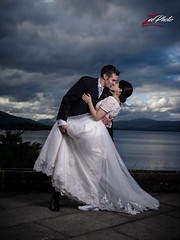Mr & Mrs Donaghy (Zphotography!) Tags: wedding clouds mediumformat groom bride evening scotland dress marriage lochlomond newlyweds weddingphotography zeephoto cruin dipkiss wwwzeephotocouk pentax645z zeephoto2016