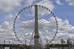 2016.04.14.052 PARIS - Place de la Concorde, (alainmichot93 (Bonjour à tous - Hello everyone)) Tags: paris france seine architecture nikon îledefrance place bleu ciel nuages luxor arbre manège placedelaconcorde granderoue roue obélisque 2016
