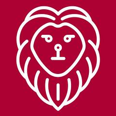 Ariela's Bags Leon (arielasbags) Tags: red logo design graphic lion icon leon diseo icono f1ca