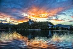 Lake Bled, Slovenia (Explore 6-6-2016) (Mi Bob) Tags: sunset castle lakebled bledslovenia
