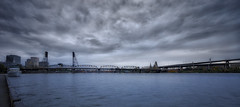 Stormy Skies Over The Willamette River (inducedchaos.com) Tags: oregon river portland sony willametteriver willamette travelphotography landscapephotography hdrphotography a7r