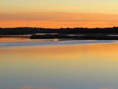 thumb_IMG_7125_1024 (fred.tross) Tags: blue sky orange lake colour reflection water horizon low strata stillness joondalup