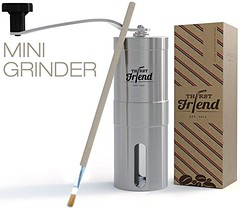 Thirst Friend MINI Manual Coffee Grinder With Free Cleaning Brush & Waterproof Travel Pouch. Top Rated Portable Grinder, Best To Brew Espresso, Turkish, Pour Over, French Press & Aeropress On The Go  (beveragecoolerusa) Tags: wordpress ifttt