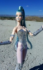 Celeste (ozthegreatandpowerful) Tags: people fashion outfit twilight doll dolls outdoor body ooak space alien cream barbie outer custom hybrid saga royalty leotard celeste rosaline repaint reroot
