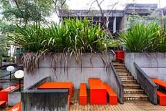 orange benches (ghee) Tags: heritage architecture canon concrete sydney australia nsw kuringgai 6d lindfield ghee gwp davidturner brutialism guywilkinsonphotography utskuringgaicampus universityoftechnologykuringgaicampus