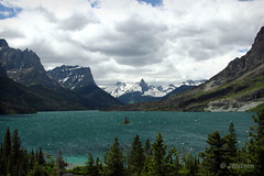 Saint Mary Lake (VenturaMermaid) Tags: cloud mountain lake snow nature canon landscape scenic glacier glaciernationalpark gnp saintmarylake