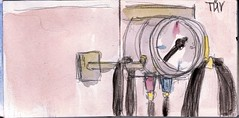 warum mussten die Reifen mit 3 Bar aufgepumpt werden und was war das eigentlich Bar? Und warum steckte der Mann ihrem Auto jetzt eine sthlerne Stange in den Hintern (raumoberbayern) Tags: auto city winter bus fall car pencil paper munich mnchen landscape herbst tram tire sketchbook stadt papier landschaft bleistift robbbilder auspuff reifen skizzenbuch luftdruck tv airpressure strasenbahn