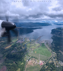 HIgh in the Sky (mary-lee.) Tags: sky water plane landscape nikon fromabove vancouverisland skyisthelimit propplane landscapephotographer
