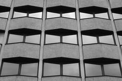 image (Kathi Huidobro) Tags: brutalist brutalistarchitecture urban chevrons symmetry geometry pattern windows concrete buildingfacade facade blackwhite bw architecture london