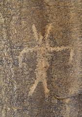 Petroglyph at Cañon Pintado (Ron Wolf) Tags: archaeology colorado nativeamerican petroglyph anthropology rockart headdress blm anthropomorph anthromorph canyonpintado