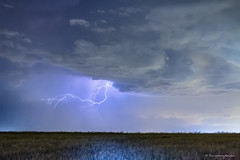 Reaching Out To Country Wheat Fields (Striking Photography by Bo Insogna) Tags: summer sky nature night landscapes spring colorado seasons country farming stormy nighttime bolts lightning plains striking storms climate thunderstorms wheatfields