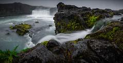 POV (el_farero) Tags: green water canon waterfall iceland islandia rocks panoramica cascada godafoss filtros farero lucroit