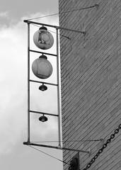 Brazos Lodge, Bryan, Texas (Johnny Waco) Tags: signs vertical lights texas masonry lodge masonic bryan freemasonry round symbols brazoslodge