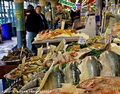 IMG_5719 copysmall (azphotomom37) Tags: seattle washington fishmarket seafood men talking chatting abundance canon kgibsonphotography pikest