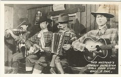 Cowboy Orchestra, Wall Drug, S. D. (912greens) Tags: musicians mannequins 1950s postcards storefronts stores chuckwagons