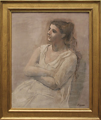 Pablo Picasso - Woman in White 1923 (ahisgett) Tags: new york art museum met metropolitian