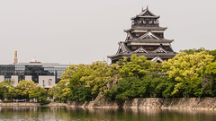 Hiroshima Castle (TheSpaceWalker) Tags: tower water japan photography photo nikon wwii sigma pic hiroshima 70200 atomicbomb abomb d300 hiroshimacastle thespacewalker