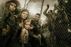 The Walking Dead Family 1 (karlwpfeiffer) Tags: family green portraits gun photos awesome badass group creative knife daughters horror karl amc conceptual zombies pfeiffer clever walkingdead