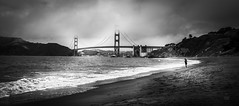 l'horizon ... (JardinsLeeds) Tags: bakerbeach california californie goldengatebridge blackandwhite noiretblanc plage nikond800e nikkor2470mm