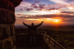 Solaris (Peter Daum 69) Tags: light sunset portrait color tower art clouds sunrise canon landscape eos licht scenery energy energie himmel mann turm landschaft bauwerk farbe moods sonnenaufgang stimmung traum
