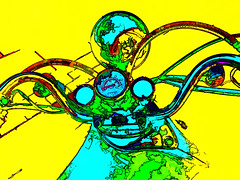 the machine II (j.p.yef) Tags: blue green yellow traffic transport digitalart popart motorcycle speedometer verkehr motorrad yef peterfey jpyef