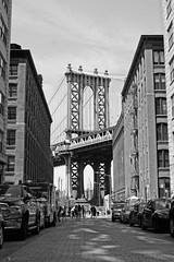 Like the good OL days! (Prakash Goteti) Tags: nyc newyorkcity travel bridge bw usa ny newyork building brooklyn reflections blackwhite manhattan newyorker manhattanbridge newyorkskyline empirestatebuilding empirestate iconic nycbridge prakashgoteti