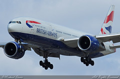 British Airways Boeing 777-236/ER (G-VIIK) (Michael Davis Photography) Tags: chicago airplane flight jet ohare landing arrival ord britishairways runway chicagoohare airliner airborn chicagoillinois jetliner boeing777 b777 kord triple7 777200 tripleseven airplanephotography aviationphotography gviik boeign