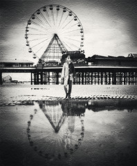 tears and fears (matthewheptinstall) Tags: carnival cinema wheel clown surreal fair scared blackpool dreamscape phobia evilclown