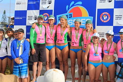 Under 23 women podium (Dan T Townsend) Tags: life boy guy beach girl gold coast boat surf australian australia competition row palm crew bikini queensland april rowing oar saving thunder winners fit titles rower aussies competing togs goldcoast oarsman lifesaving kirra slsa surfboat 2013 kurrawa surfboats aussies2013