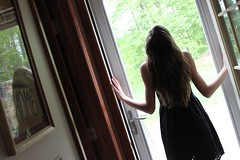 (OliviaRobbins16) Tags: leave love window girl dark hair photography trapped toes arch like follow creepy curly push struggle