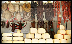 Cheese & Chorizo (Cathy Warne) Tags: cheese market 7d chorizo mallorca marketstall 2013 7dcanon