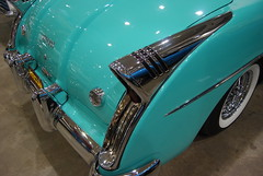 '54 Buick Skylark, Sold (artistmac) Tags: auto car buick wire automobile aqua auction indianapolis wheels indiana convertible 1954 tires chrome kelsey hayes 54 limitededition fins whitewall ragtop skylark tailfins in kelseyhayes mecum