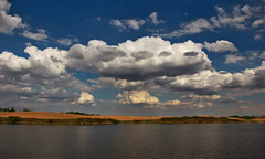 Epic Alberta Sky Over Prairie Lake (Explore # 324 May 20 2013) (LostMyHeadache: Absolutely Free *) Tags: light shadow sky lake nature water field grass clouds canon landscape spring explore alberta prairie davidsmith explored calgaryalbertacanada eos60d