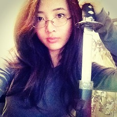 Hey guys, I found my sword! Sorry about the crap quality though... (Red-Eclipse) Tags: summer anime cute nerd me girl fashion japan square asian japanese photo spring geek chinese manga korea korean squareformat kawaii sword blade otaku iphone iphoneography instagramapp xproii uploaded:by=instagram