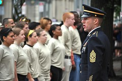 Oath of enlistment (The U.S. Army) Tags: hall future soldiers independence tradoc