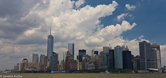 Downtown Manhattan (4 photos) (NettyA) Tags: nyc newyorkcity travel usa skyline architecture clouds america buildings manhattan northamerica freedomtower