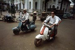 Saigon 1967 - Motor Scooters on Saigon Street (Tommy Truong79) Tags: 1967 saigon