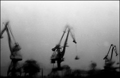 Lorient, zone portuaire (Punkrocker*) Tags: street france film port 50mm nikon brittany harbour bretagne nb 100 nikkor agfa apx ai lorient 5014 f2sb bwfp