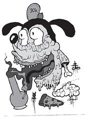 Severed Toon Head (VLCERS) Tags: art illustration artwork artist drawing character cartoon doodle illustrator toon vlcers iheartvlcers