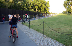 Maya Lin, Vietnam Veterans Memorial, visitor on bicycle